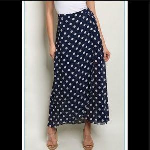 Dresses & Skirts - Navy Polka For Skirt